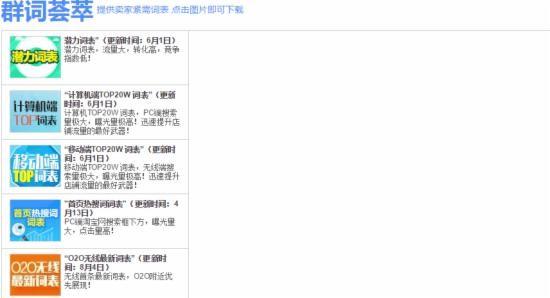 2017多种直通车选词技巧必学! 淘宝教程 第5张